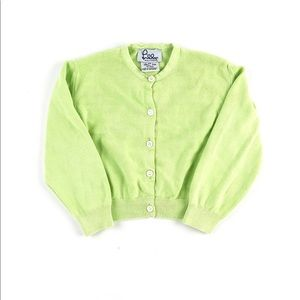 Lilly Pulitzer pale lime green cardigan